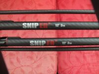 2 x ESP 12ft SNIPER 2 RODS 3lb TEST CURB CARP RODS.