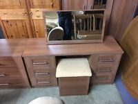 WARDROBE DRESSER AND CHEST OF DRAWERS (DELIVERY AVAILABLE)