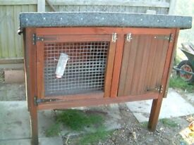 Hand Made Rabbit Hut in good condition , has a partitioned off sleeping compartment