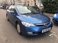 2008 HONDA CIVIC ES 1.3 IMA CVT HYBRID AUTO, ONLY £20 ROAD TAX, 61 MPG