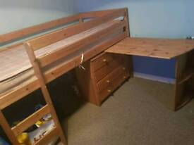 Cabin bed and boys room furniture