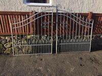 Galvanised driveway gates