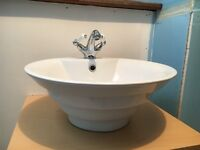 Round ceramic counter top basin (and optional extras)