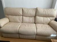 Cream / Ivory Leather Sofas