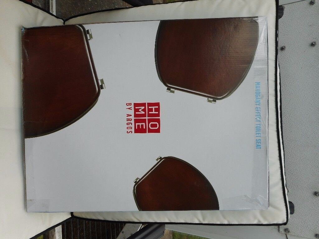 Wooden Toilet Seat, new in sealed box