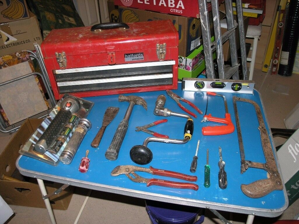 Halfords Toolbox With Two Drawers and 17 Tools Weymouth