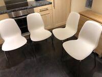 4 Ikea Leifarne Chairs White/Chrome