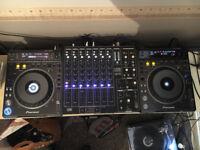 Pioneer DVJ1000s & Urei 1605 Mixer - all come in pro flight cases CDJ