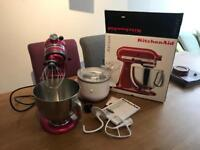 Artisan kitchen aid stand mixer and ice cream maker
