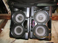 Two large SONY speakers