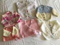 Brand new hand knitted baby's cardigans £5.00 each