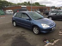 2003 Honda Civic 1.4 SE 88k FRESH MOT Blue