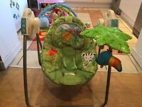 Fisher Price rain forest theme swing