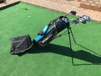 Child's left handed golf clubs