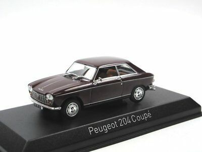Norev 472403 1967 Peugeot 204 Coupe Maroon Modellauto 1:43 Maroon Coupe
