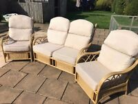 Conservatory Furniture. Cream in colour. As new!