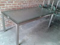 Glass Dining Room Table & 6 Chairs - DELIVERY AVAILABLE