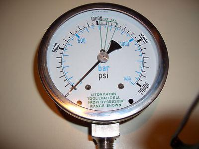 4 High Pressure Hydraulic Gauge 20000 Psi Max