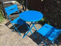 Bistro table and two chairs for sale