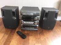 JVC Stereo System and remote