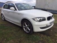 BMW 1 Series 2009 2.0 116i Sport White Hatchback 5d 1995cc SPARE OR REPAIR