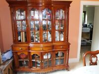 Bespoke solid wood living and dining room furniture suite.