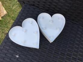Decorative hearts wedding