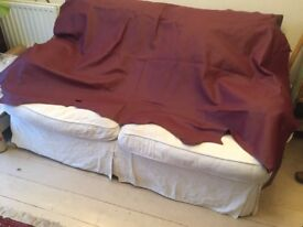 LARGE LEATHER SKIN MAROON 46ins x 72ins /117cms x 183cms ..