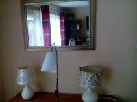 three lamps plus mirror