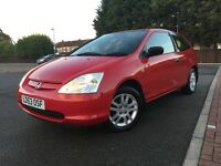 2003 HONDA CIVIC 1.4 INSPIRE S 3DR SPORT // 57K MILLAGE 1 FORMER LADY KEEPER ALL PREVIOUS PAPERWORK!