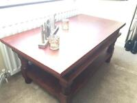 Heavy wooden coffee table