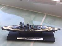 German Cruiser Admiral Graf Spee 1/1250 Scale Diecast Metal Model Ship by Atlas