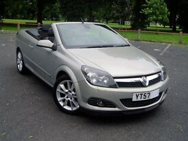 2007 Vauxhall Astra Design Twin Top Turbo. 47000 Miles. Service History. Mot May 2018. Convertible.
