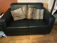 Heavy leather sofa