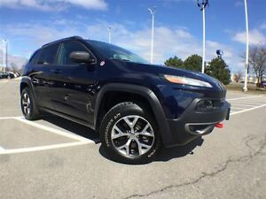 2014 Jeep Cherokee Trailhawk,Leather,Navigation,Roof+Low Kms!!