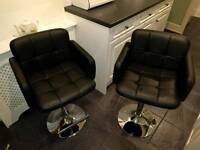 Bar stools x 2 (adjustable height)