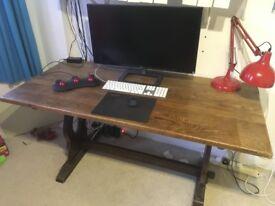 Solid antique vintage table or desk