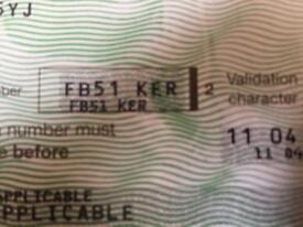 Private Plate Cherished Registration Number FB51KER