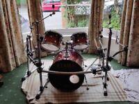 Tama Starclassic 5-Piece Maple Drum Kit, Gibraltar Rack, High Hat & Sn