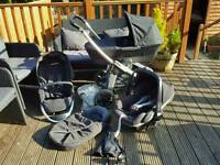 Maxi cosi elea pram / travel system with car seat and carry cot