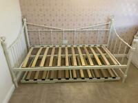 Juliette Metal Day Bed And Trundle Bed Frame