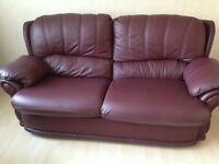 Leather 3 piece Suite Excellent condition.
