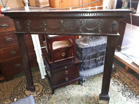 WOODEN FIRE SURROUND / FIREPLACE MANTLE PIECE CHIMNEY PIECE IN YEOVIL