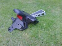 Yamaha R6 number plate bracket and lamp