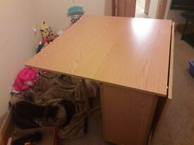Drop leaf table with 3 chairs