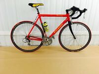 Red Raleigh 18 speed Alloy road bike 60 cm Frame Fully Serviced Warranty Included