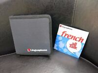 LINGUAPHONE ALL TALK - FRENCH CDs in a black zipped up case