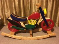 Rocking horse (motorbike) and trike.