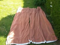 Pair of Eversosure Washable Velvet Ready Made Curtains with tiebacks