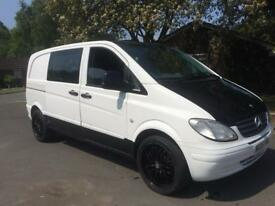 MERCEDES VITO CDI 6 SPEED MANAUL CREW CAN WHITE NO VAT!!!!